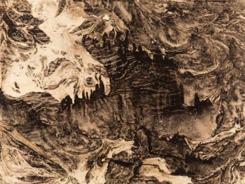 Mikhail Tarkhanov (1930), The Darkest Side, oil-water medium on paper, 27 x 36 cm