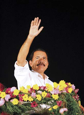Yuri Cortez (2007) Sandinisa leader Daniel Ortega accepting his second nomination to presidency of Nicaragua.