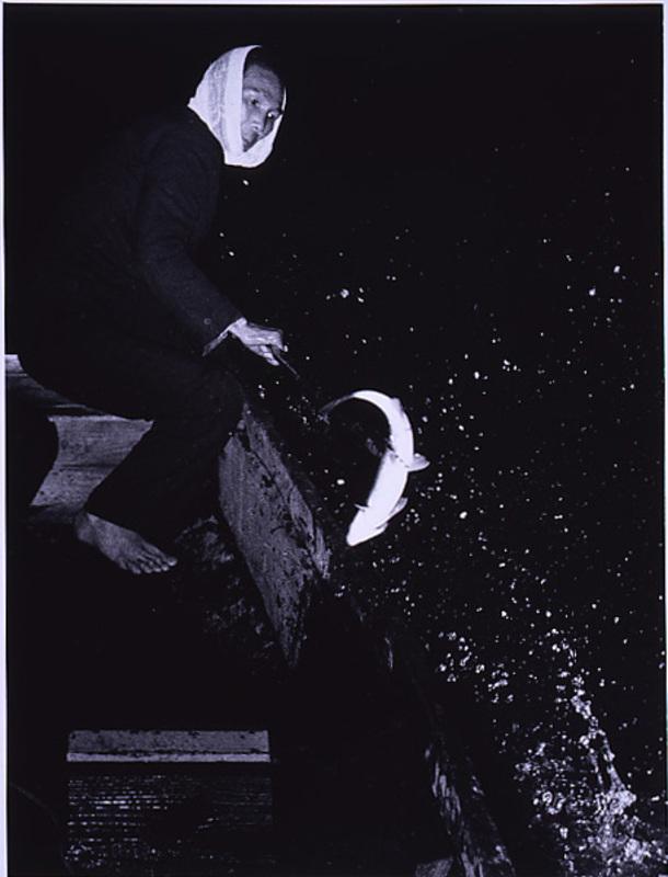 Fukushima Kikujiro (1952) Sugimatsu fishing.