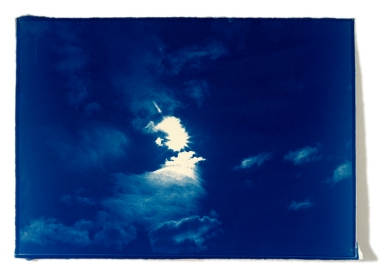 Atlas Cyanotype on clouds Fabriano 42 cm x 60 cm