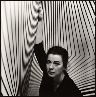 Ida Kar(1963) Bridget Riley 2 1/4 inch square film negative.