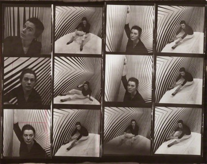 Ida Kar(1963) Bridget Riley vintage contact sheet, 202 mm x 252 mm