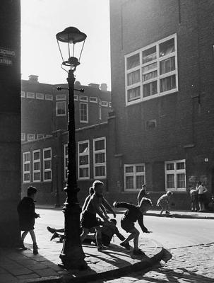 Kees Scherer (1954) Children Playing