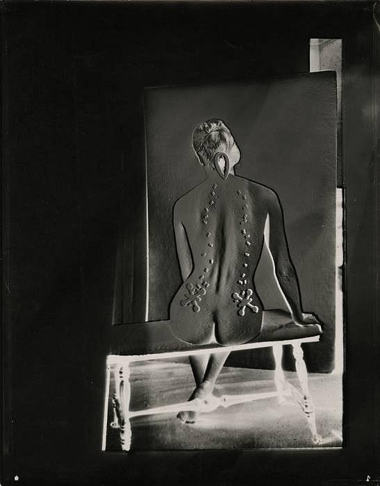 Josef Breitenbach, Electric Back (variant), 1949 Vintage gelatin silver print, 13 1:2 x 10 3:8 in. (34.3 x 26.4 cm)