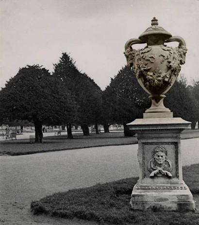 Josef Breitenbach (1935) Luxembourg Gardens, Paris, Vintage toned gelatin silver print 27 x 23.8 cm.