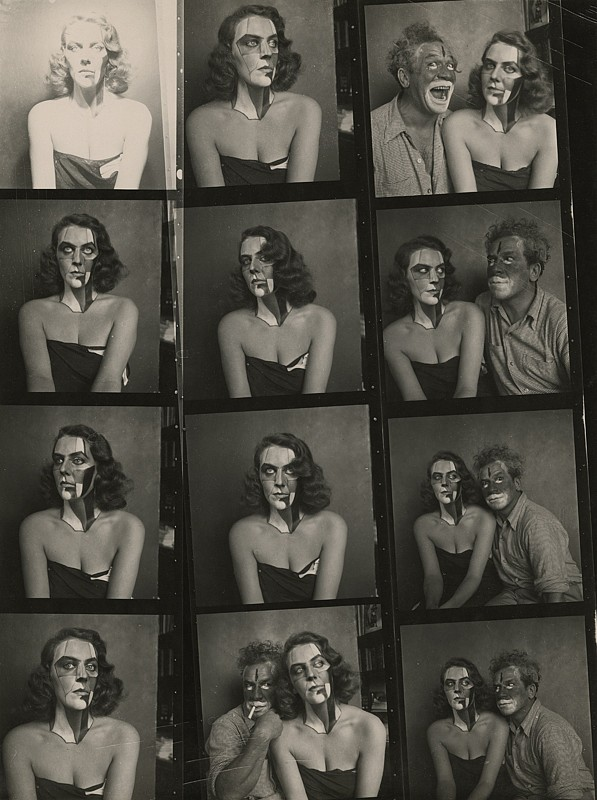 Josef Breitenbach, Portraits with Make Up, New York, c. 1945 Vintage gelatin silver print, 9 1:2 x 6 15:16 in. (24.1 x 17.6 cm)
