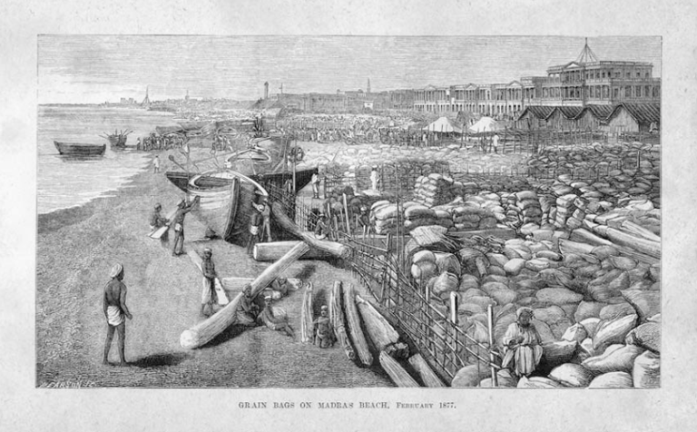 Lithograph based on W. W. Hooper_s photograph, from William Digby, The Famine Campaign in Southern India, 1878