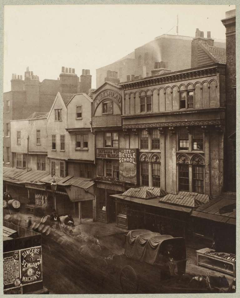 Old Houses, Aldgate Henry Dixon before 1880 22.4x18cm carbon print