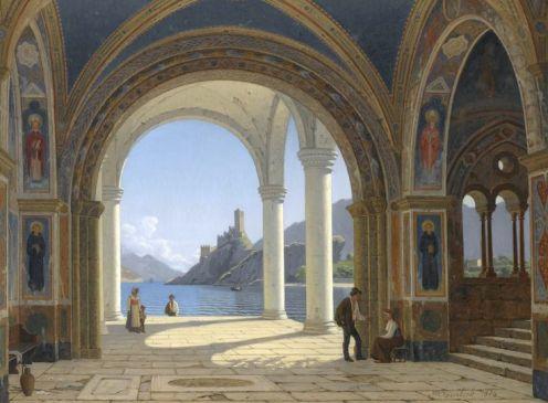Peter Kornbeck, A Cloister, Lake Garda
