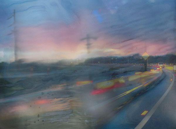 Rain, 2015, digital print