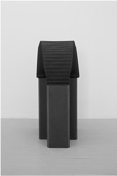 Ting-Tong, 2014,78x31x50cmLarge-formatcamera bellows, blk M.D.F pedestal