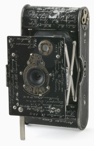 Vest pocket Kodak camera belonging to Sergeant P E Virgoe