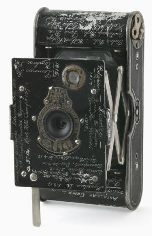 Vest pocket Kodak camera belonging to Sergeant P E Virgoe