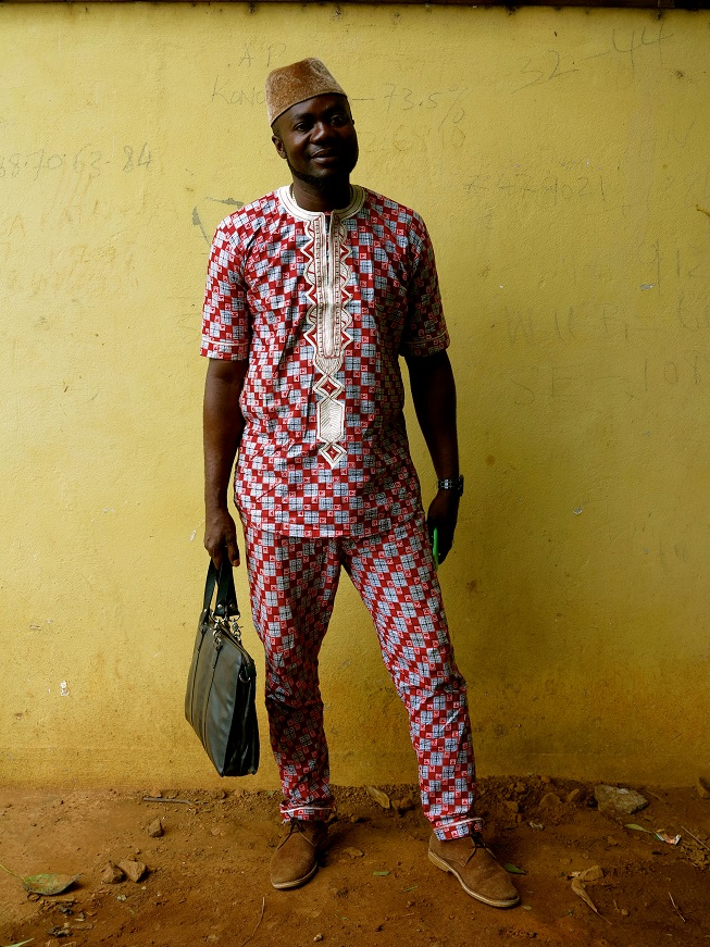 Daramay does not hold back with his Africana two piece suit