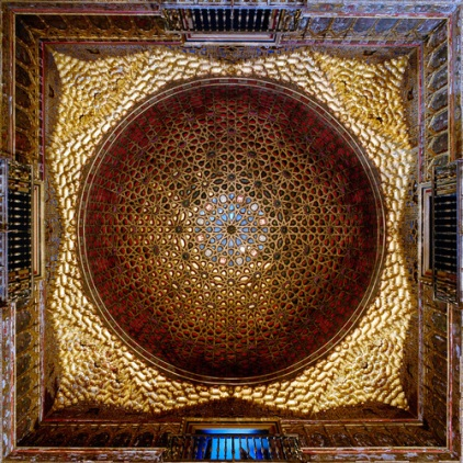 David Stephenson (1997 ) Dome 21704, Salon des Embajadores, Alcazar, Seville, Spain (1427-).