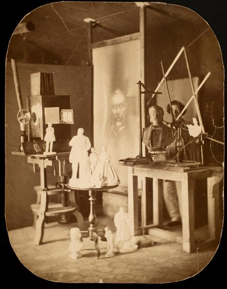 François Willème [Appareil de projection et pantographe de Willème] 1865 (ca) Albumen print 22 x 17 cm George Eastman Museum
