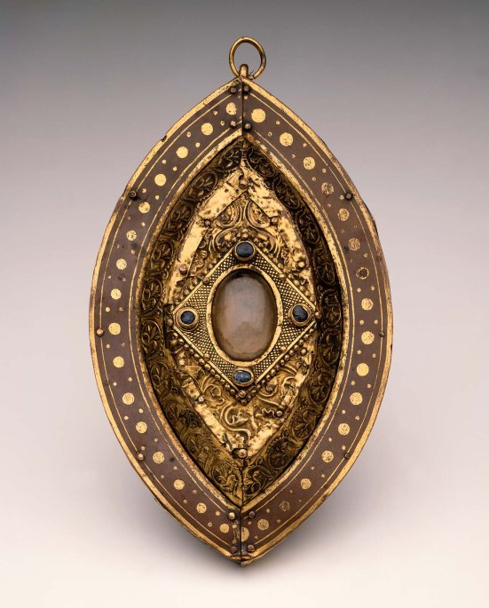 Hanging Reliquary German (Meuse) Medieval third quarter of 12th century Maker Unidentified DIMENSIONS 16.9 x 10.6 x 3.7 cm