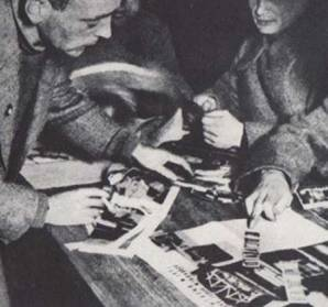 Heartfield at a Moscow seminar on photomontage c.1931