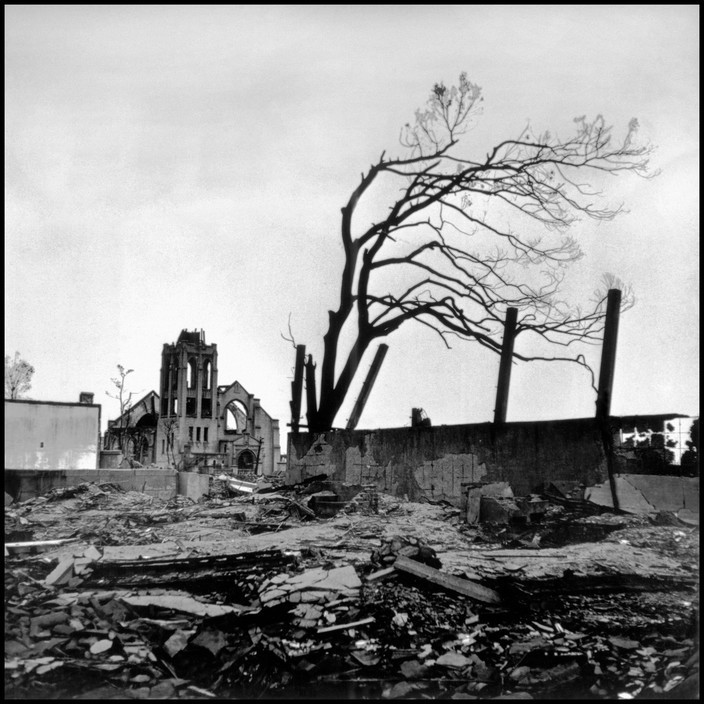 JAPAN. Hiroshima. 1945. Destruction caused by the atomic bomb blast.