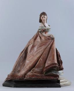 Auguste François Willème (1845-?) Portrait de Céleste-Rose Beauregard, dite Rose Deschamps, comédienne. Polychrome plaster.
