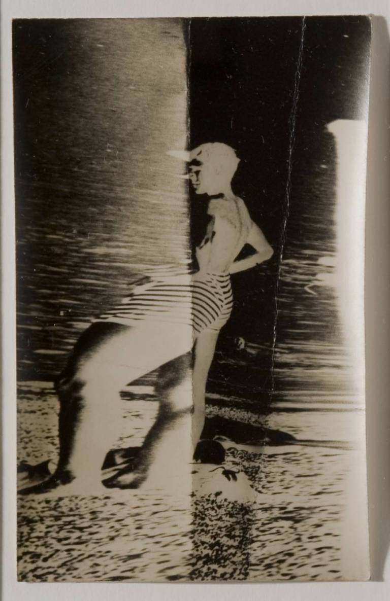 Stressed Photograph of a Bather circa 1950 by Nigel Henderson 1917-1985