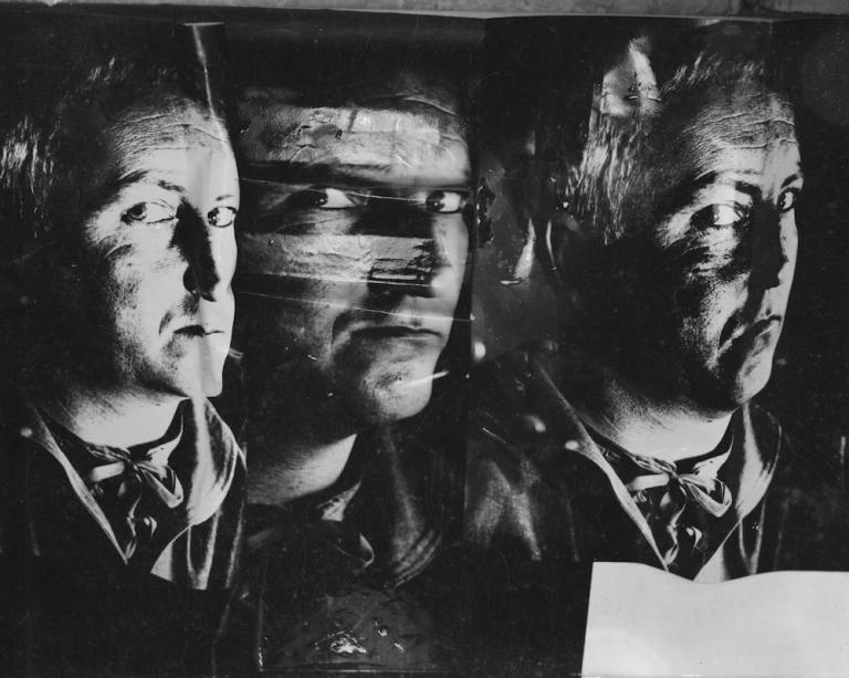 Photograph showing distorted image of Nigel Henderson by Nigel Henderson 1917-1985