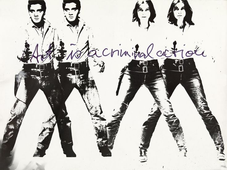 Ulrike Rosenbach Art is a Criminal Action No 4, 1969 S:W-Fotografie auf Barytpapier : b:w photography on barit paper