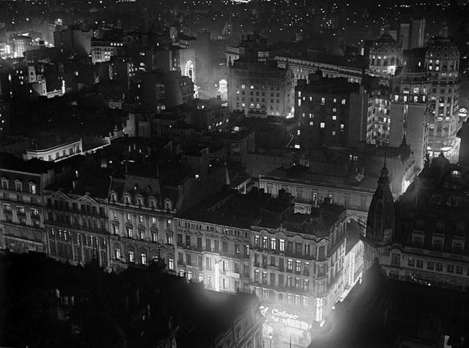 Noche en Avenida de Mayo, 1936