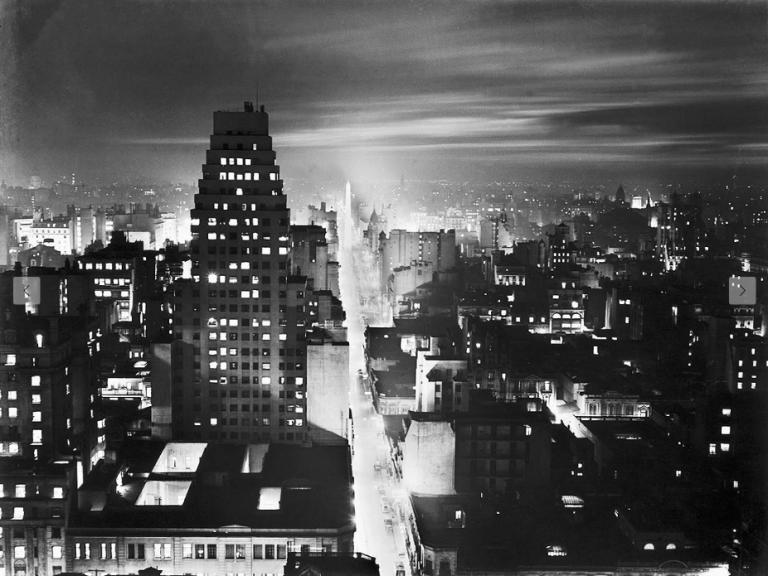 Corrientes Street, silver gelatin on paper, 1936