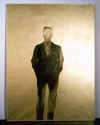 Gold Self-Portrait, 1960 oil, acrylic and gold on canvas, cm 200 x 150 Fondazione Pistoletto, Biella. Photo: P. Pellion