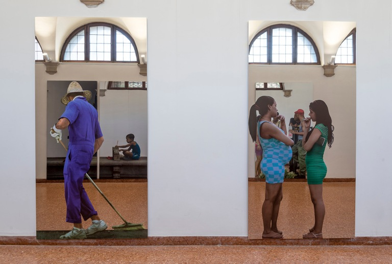"Michelangelo Pistoletto ""One and One makes Three"" at Basilica di San Giorgio, Isola di San Giorgio Maggiore, Venice Biennale, 2017 Courtesy- the artist and GALLERIA CONTINUA, San Gi"