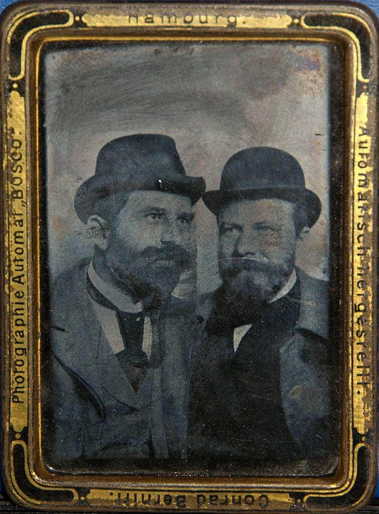 Portrait of two men 1895 (ca) Ferrotype (Bosco Fotoautomat)
