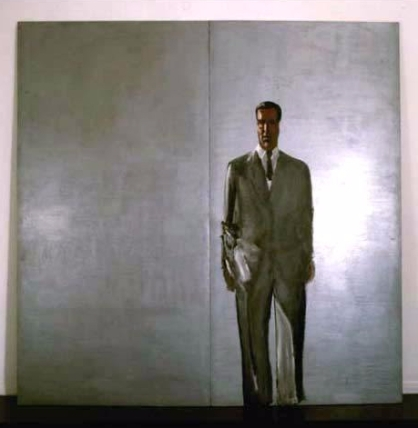 Silver Self-Portrait, 1960 oil, acrylic and silver on wood, two elements, cm 200 x 200 Fondazione Pistoletto, Biella. Photo: P. Pellion