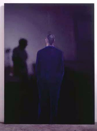 The Present - Man seen from the Back, 1961 acrylic and plastic paint on canvas, cm 200 x 150 Fondazione Pistoletto, Biella Photo- P. Pellion