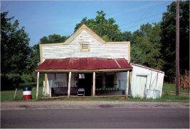 William Christenberry's photograph of the T.B. Hick's Store in Newbern, Ala, 1976