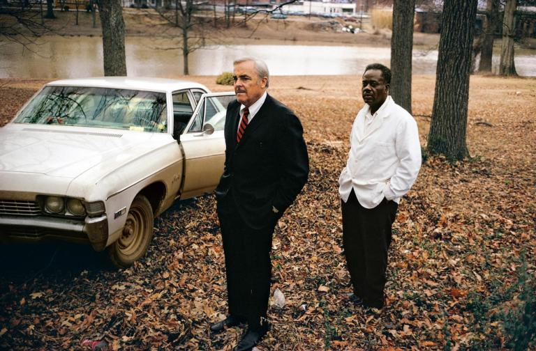 William Eggleston Untitled, 1969-70 (the artist_s uncle, Adyn Schuyler Senior, with assistant and driver, Jasper Staples, in Cassidy Bayou, Sumner, Mississippi) Pigment print, printed