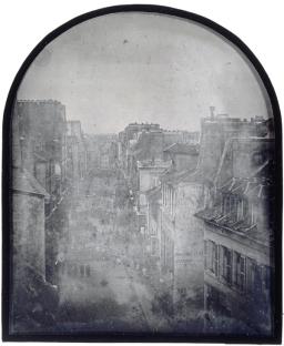 Barricades rue Saint-Maur. Après l_attaque, 26 juin 1848. Daguerréotype par Thibault, 11,2 x 14,5 cm, Paris, musée d_Orsay
