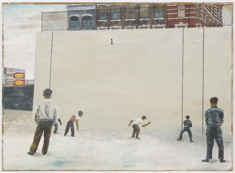 Ben Shahn Handball (1939) Medium Gouache on paperboard Dimensions 22 3:4 x 31 1:4 (57.8 x 79.4 cm)