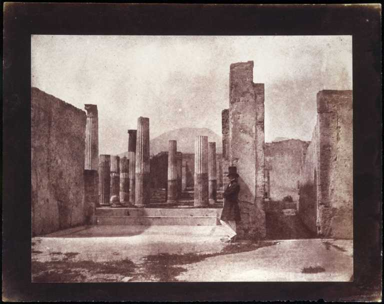 Calvert Richard Jones House of Sallust, Vesuvius behind, Pompeii 1846 Salt print 16 x 21 cm (approx) National Science and Media Museum