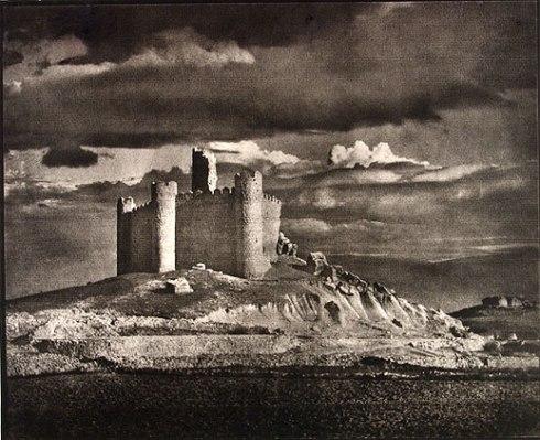 José Ortiz-Echagüe (1950) Castillo de Embid, Guadalajara, carbon print