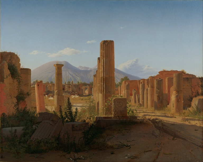 Christen Schjellerup Købke (Danish, 1810 - 1848) (1810 - 1848) – artist (Danish) Details of artist on Google Art Project Title The Forum at Pompeii with Vesuvius in the Background wik