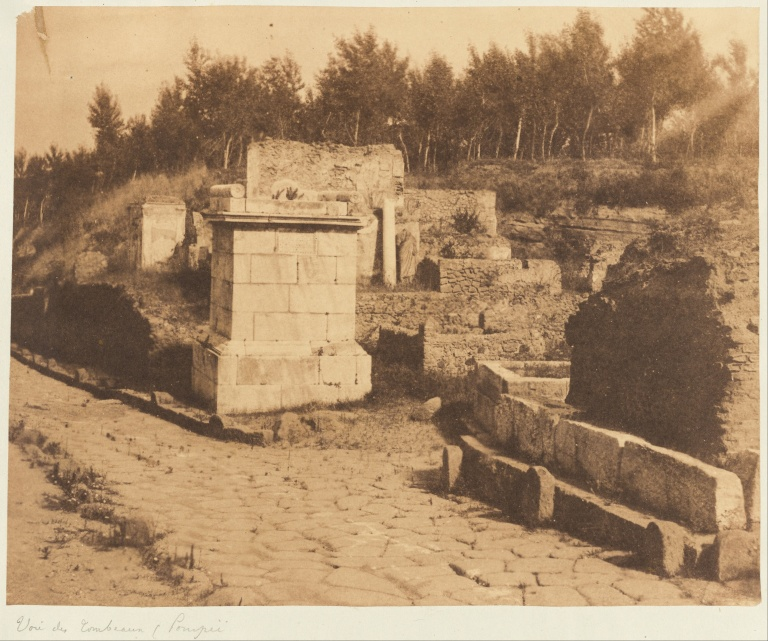 Firmin Eugène Le Dien (French, 1817 - 1865) (1817 - 1865) – photographer (French) Details of artist on Google Art Project Title [Street of Tombs, Pompeii] Object type Print Date 1853