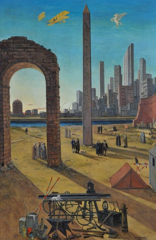 Gianfilippo Usellini, Il lavoro, tempera 1960