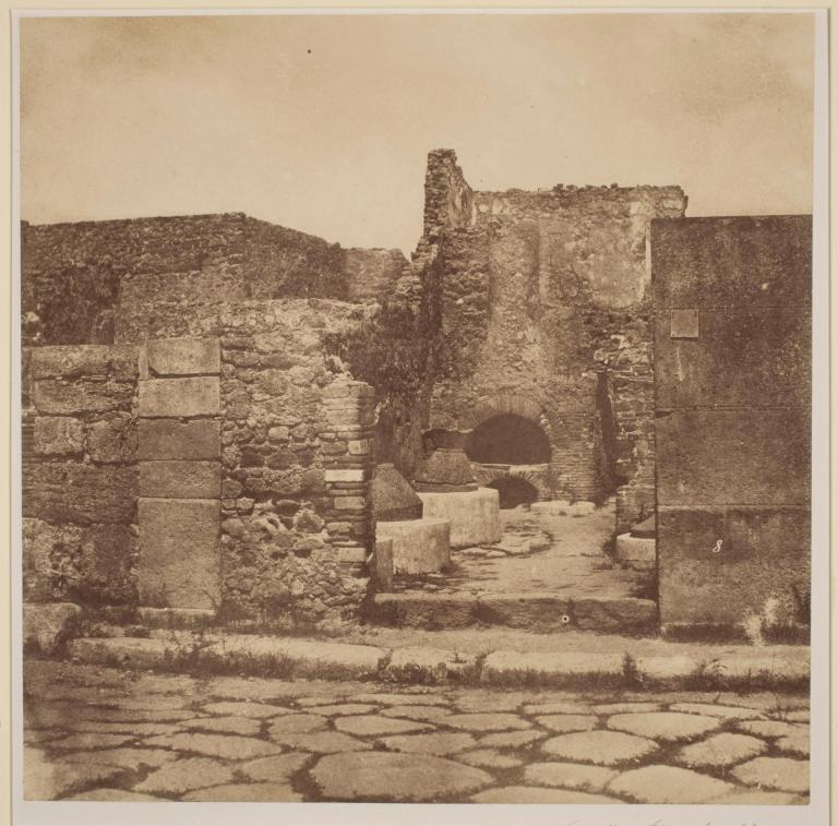 Gustave Le Gray Pompeii Public Forum 1855 (ca) Albumenized salted paper print 24.4 x 24.3 cm George Eastman Museum