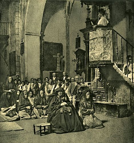 José Ortiz-Echagüe Sermon in the village 1902 Fresson print (Tirage procédé Fresson ) 31 x 29.3 cm José Ortiz-Echagüe Sermon in the village 1902 Fress
