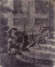 Louis-Adolphe Humbert de Molard (c.1848) Deux Chasseurs, salt print, from a paper negative The Hyman Collection.