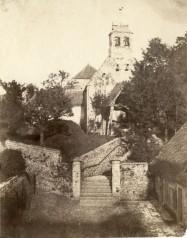 Louis-Adolphe Humbert de Molard (1848, October) Falaise, la chapelle Saint-Laurent salt paper print from paper negative 21.7 x 17.2 cm