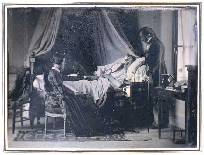 Louis-Adolphe Humbert de Molard Le malade à Lagny n.d. Daguerreotype Musée Gatien-Bonnet