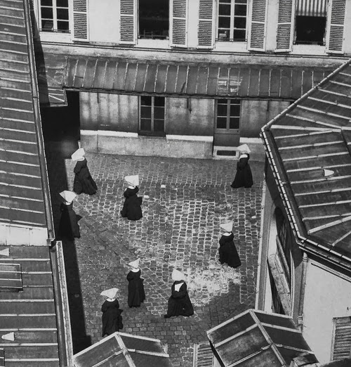 Nuns in courtyard 1952