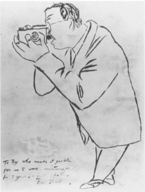 Ben Shahn (c.1939) Self-Portrait with Angle Viewfinder. Drawing, Private collection